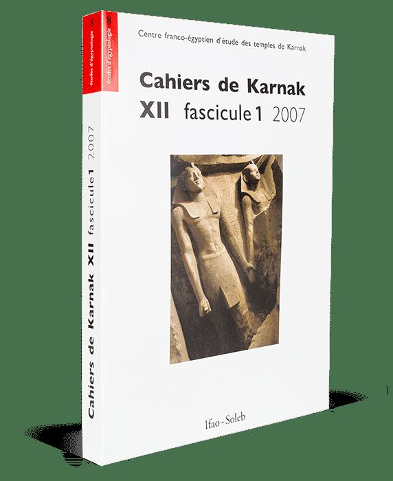 Cahiers de Karnak XII